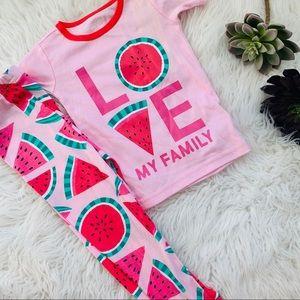NWT love my family watermelon pajamas